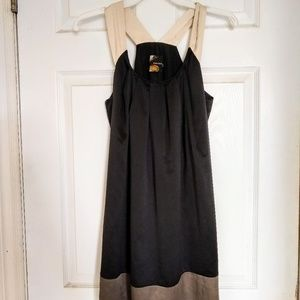 Black and Olive Sheath Dress